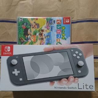 ニンテンドースイッチ(Nintendo Switch)の新品 2点 ニンテンドースイッチライトとあつまれ どうぶつの森 ソフト(家庭用ゲーム機本体)
