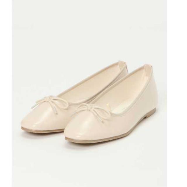 ikka(イッカ)のikka リボンバレエシューズ アイボリー 美品 レディースの靴/シューズ(バレエシューズ)の商品写真