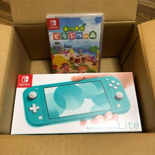 ニンテンドースイッチ(Nintendo Switch)のNintendo switch lite ターコイズ どうぶつの森 セット (家庭用ゲーム機本体)