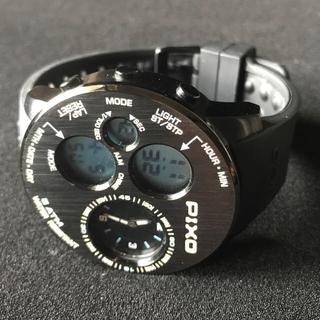 PIXO PX-5 SBBK-08 Black/Blue 正規品・中古美品(腕時計(デジタル))