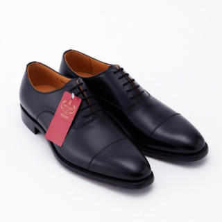 スコッチグレイン ストレートチップ 25cm 黒 革靴革底レザーソール新品未使用