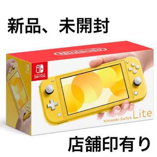 ニンテンドースイッチ(Nintendo Switch)の【新品、未使用】Nintendo Switch Lite  イエロー(家庭用ゲーム機本体)