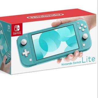 ニンテンドウ(任天堂)の新品(未使用、未開封)ターコイズ Nintendo Switch Lite(家庭用ゲーム機本体)