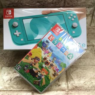 ニンテンドースイッチ(Nintendo Switch)のNintendo Switch スイッチライト&どうぶつの森セット(携帯用ゲーム機本体)