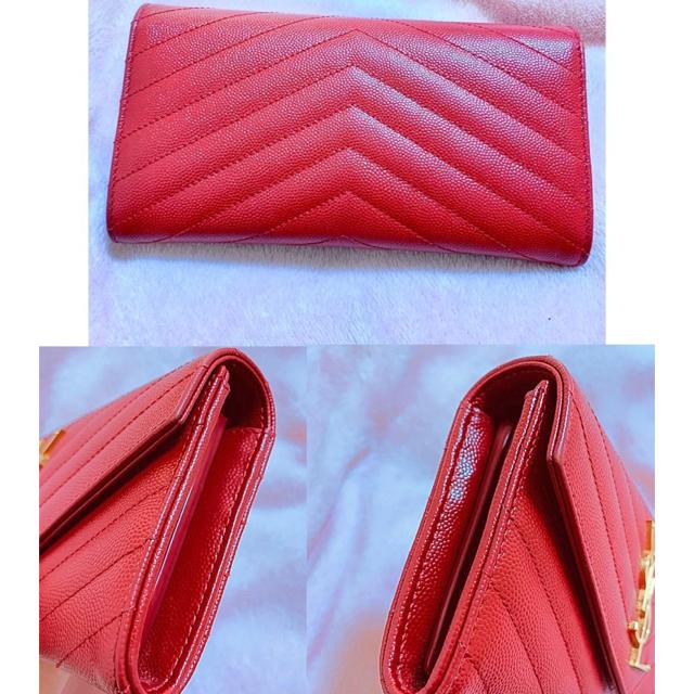 Saint Laurent(サンローラン)のサンローラン  パリ 長財布 赤 レディースのファッション小物(財布)の商品写真