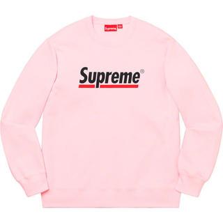 シュプリーム(Supreme)のsupreme underline crewneck pink(スウェット)