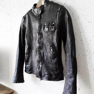 ISAMUKATAYAMA BACKLASH -  BACKLASH ドイツカーフ製品染め ライダースジャケット XS