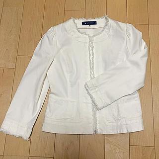 エムズグレイシー(M'S GRACY)のM'sグレィシー ホワイトジャケット(Gジャン/デニムジャケット)