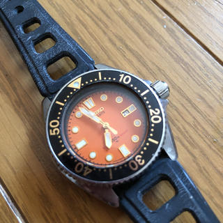 セイコー(SEIKO)の美品 セイコー ダイバー 2625-0010 オレンジ(腕時計)