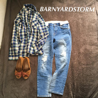 BARNYARDSTORM - バンヤードストーム デニム ダメージ 定番 ジャーナルスタンダード シップス