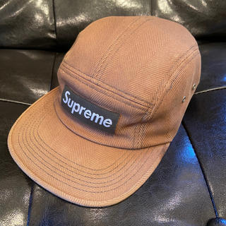 Supreme - Supreme Herringbone chino camp cap