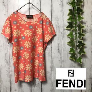 FENDI - 【美品】 fendi フェンディ カットソー 花柄 てんとう虫 ピンク