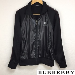 BURBERRY BLACK LABEL - 美品 BURBERRY BLACK LABEL 長袖ジャージ ブラック サイズ2