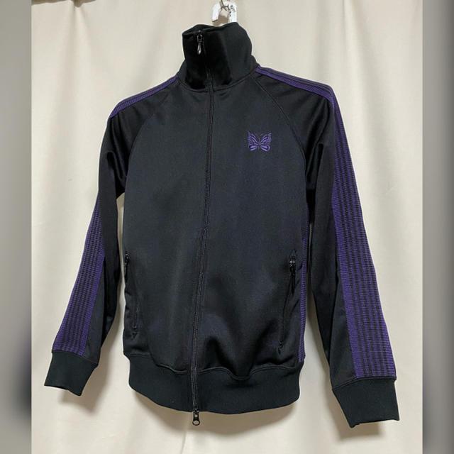 Needles(ニードルス)のNEEDLES ニードルズ  サイドライン ジャージブルゾン XS 黒×紫 メンズのトップス(ジャージ)の商品写真