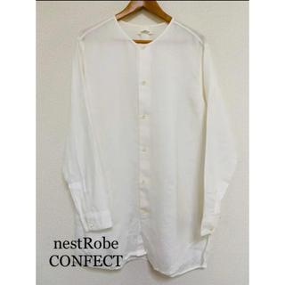 ネストローブ(nest Robe)のコンフェクト ロング白シャツ(シャツ)