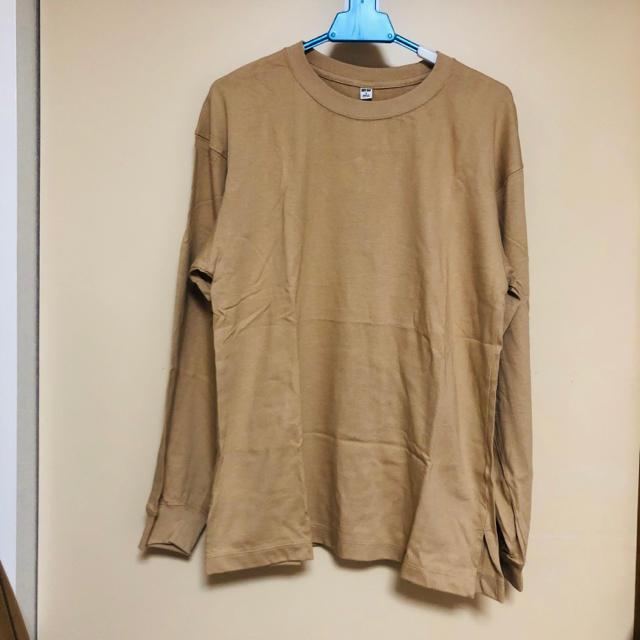 UNIQLO(ユニクロ)のUNIQLO コットンリラックスフィットクルーネックTシャツ レディースのトップス(Tシャツ(長袖/七分))の商品写真