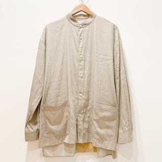 ラッピンノット(WRAPINKNOT)のWKED【バンドカラー ロングシャツ】(シャツ)