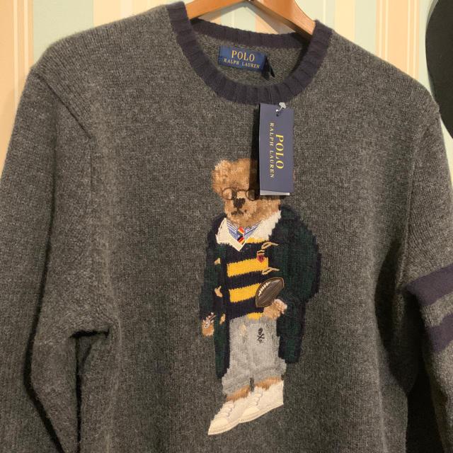 POLO RALPH LAUREN(ポロラルフローレン)の[タイムセール]<新品未使用>メンズ Mサイズ ウール Polo ベア セーター メンズのトップス(ニット/セーター)の商品写真