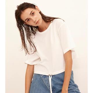 LE CIEL BLEU - ルシェルブルー クロップドTシャツ