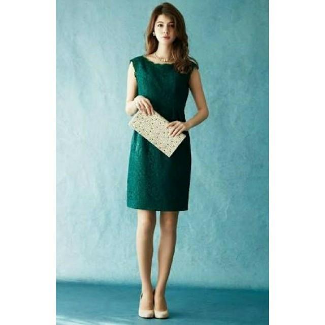AIMER(エメ)の【美品】AIMER エメ ドレス ワンピース 総レース 緑 グリーン 結婚式 レディースのフォーマル/ドレス(その他ドレス)の商品写真