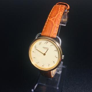 Hermes - 【美品 正規品】 エルメス 腕時計 アルソー ゴールドコンビ 可動品 新品ベルト