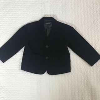 アニエスベー(agnes b.)のアニエス・ベー キッズ ジャケット 黒 入園式  卒園式 結婚式 コーデュロイ (ドレス/フォーマル)