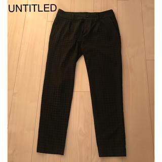 アンタイトル(UNTITLED)のUNTITLED ブラック パンツ(クロップドパンツ)