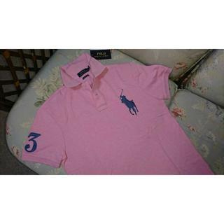 ラルフローレン(Ralph Lauren)の新品☆ラルフローレン ポロシャツ ビッグポニー ピンク   US S(Tシャツ/カットソー(半袖/袖なし))