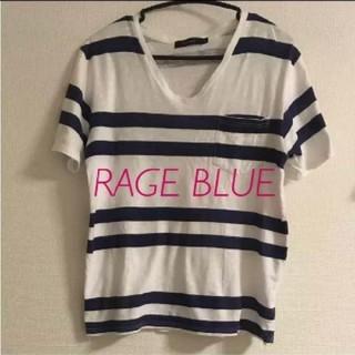 RAGEBLUE - メンズMサイズ ボーダーTシャツ レイジブルー