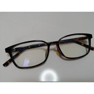 ユニクロ(UNIQLO)のユニクロ スクエアクリアサングラス UVカット だて眼鏡(サングラス/メガネ)