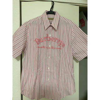 バーバリー(BURBERRY)のバーバリーロンドン イングランド ピンクストライプ半袖シャツ M(シャツ)