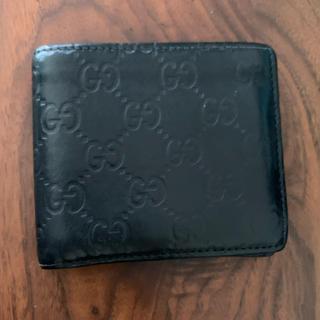 Gucci - GUCCI GG グッチシマ 二つ折財布 黒