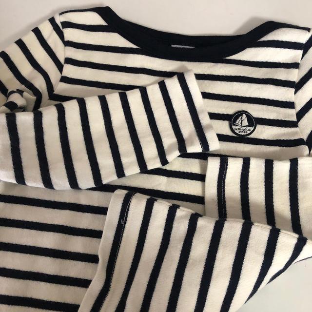PETIT BATEAU(プチバトー)のプチバトー キッズ  petitbateau ボーダー 6ans キッズ/ベビー/マタニティのキッズ服男の子用(90cm~)(Tシャツ/カットソー)の商品写真