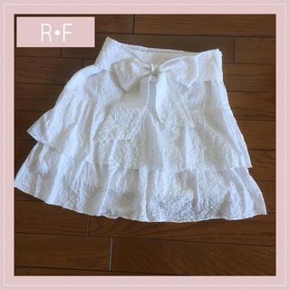 R・F - アールエフ R・F♡コットン リボン付き ミニスカート レディース ファッション