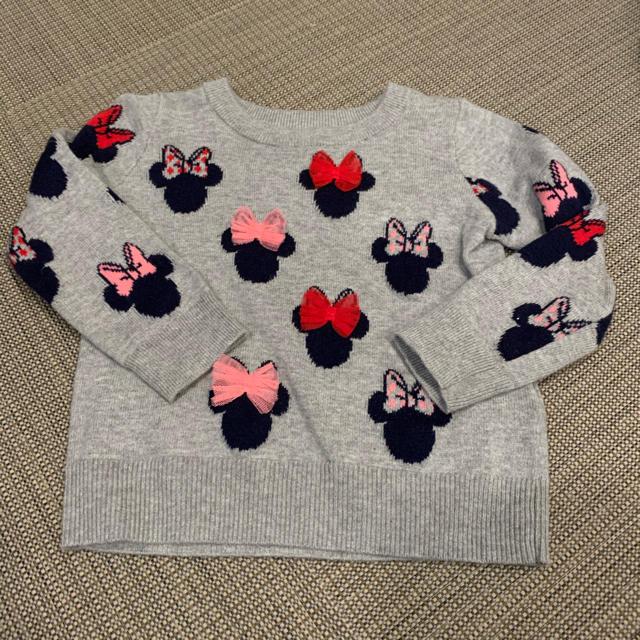 babyGAP(ベビーギャップ)のベビーギャップ ミニーちゃんセーター キッズ/ベビー/マタニティのキッズ服女の子用(90cm~)(ニット)の商品写真