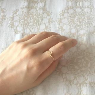 アガット(agete)の美品 定価2.5万 Jupiter♡ゴールドイニシャルリング K10YG 9号(リング(指輪))