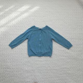 Caramel baby&child  - caramel baby and child  透かし編み カーディガン 水色