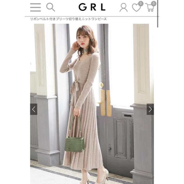 GRL(グレイル)のGRL ニット マキシ ワンピースL レディースのワンピース(ロングワンピース/マキシワンピース)の商品写真