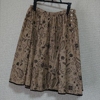 オオシマレイ(OSHIMA REI)の(値下げ)オオシマレイ  ボリュームスカート(ひざ丈スカート)