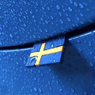 ボルボ(Volvo)のスウエーデンフラッグ 2個セット VOLVO IKEA(車外アクセサリ)