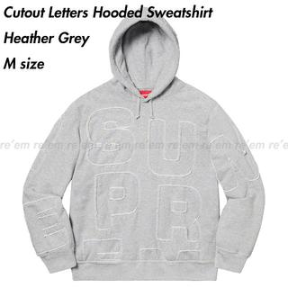 Supreme - Cutout Letters Hooded Sweatshirt Grey M