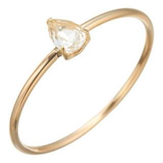 agete - アガット スタック k10リング 指輪 ホワイトトパーズ