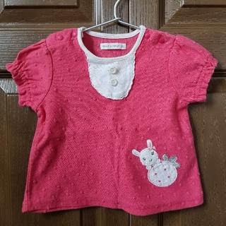 coeur a coeur - クーラクール 半袖トップス  半袖Tシャツ ピンク イチゴ 苺 キムラタン 90