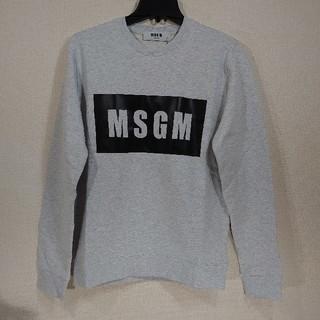 エムエスジイエム(MSGM)の【XL】MSGM エムエスジーエム/ボックスロゴスウェット/GREY(スウェット)