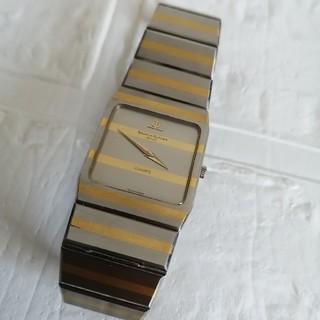 ボームエメルシエ(BAUME&MERCIER)のボーム&メルシー メンズ スクエア K18&SS 腕時計(腕時計(アナログ))