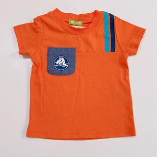crocs - 【新品タグ付】crocs  半袖Tシャツ  オレンジ  90cm 男の子