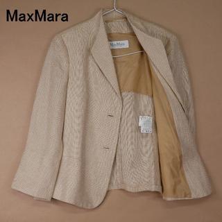 Max Mara - MaxMara マックスマーラ 白タグ 44 麻100 ジャケット