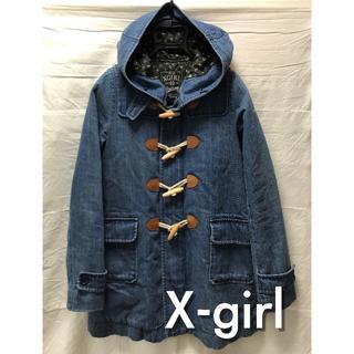X-girl - X-girl エックスガール デニム ダッフルコート 0533504