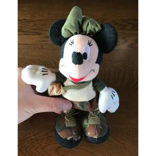 ミニーマウス(ミニーマウス)の★ミニー ディズニー ぬいぐるみ 迷彩柄(ぬいぐるみ)