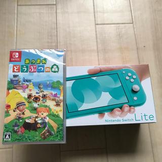 ニンテンドースイッチ(Nintendo Switch)のニンテンドーswitch lite あつまれどうぶつの森 セット(携帯用ゲーム機本体)